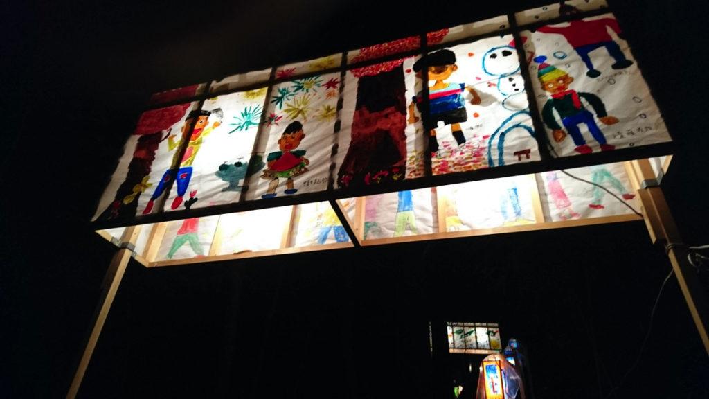 日枝神社の絵灯籠